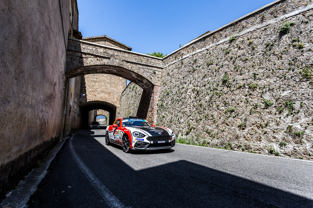 30 ASTIER Raphael (fra), VAUCLARE Frederic (fra), Abarth 124 Rally, action during the 2018 European Rally Championship ERC Rally di Roma Capitale,  from july 20 to 22 , at Fiuggi, Italia - Photo Thomas Fenetre / DPPI