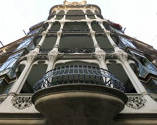 Looking up: Barcelona