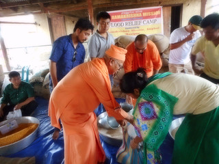Ramakrishna Mission, Imphal 2018 Flood Relief