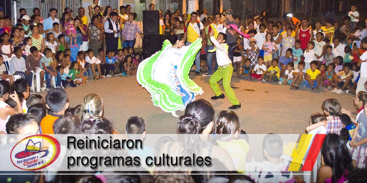 Reiniciaron programas culturales