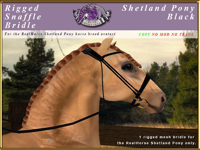 e-rh-Shetland-SnaffleBridle-Black - TeleportHub.com Live!