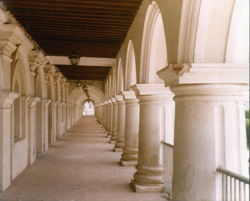 Arches of Government Palace, Antigua Guatemala Photo by Infrogmation, 1979.