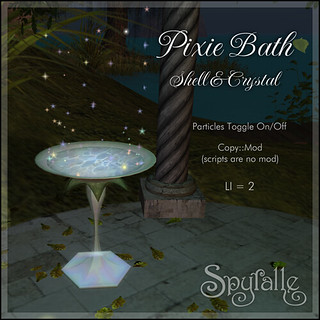 Spyralle Pixie Bath in Shell & Crystal