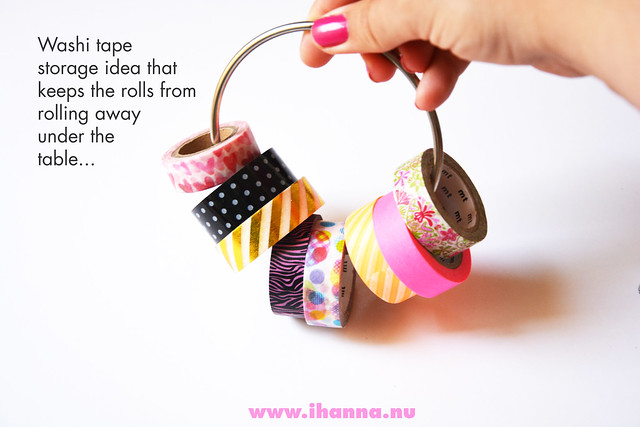 Great way to store your washi tapes