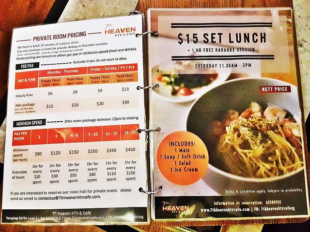 Menu Room Pricing & Set Meal