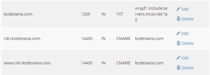 Setting DNS Zone untuk Subdomain CDN