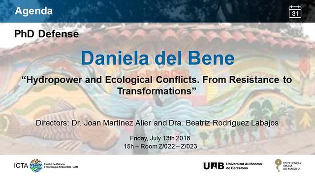 Defensa de tesis Daniela del Bene