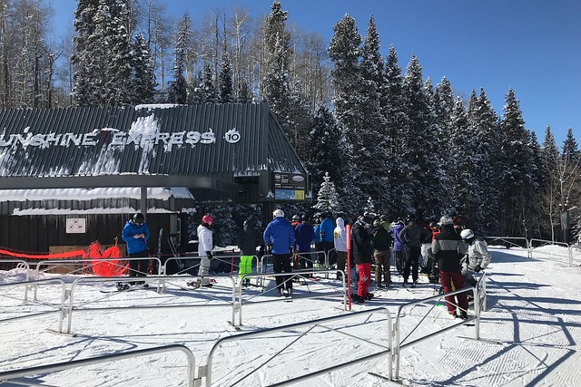 月, 2018-01-22 14:41 - 10番リフト Sunshine Express
