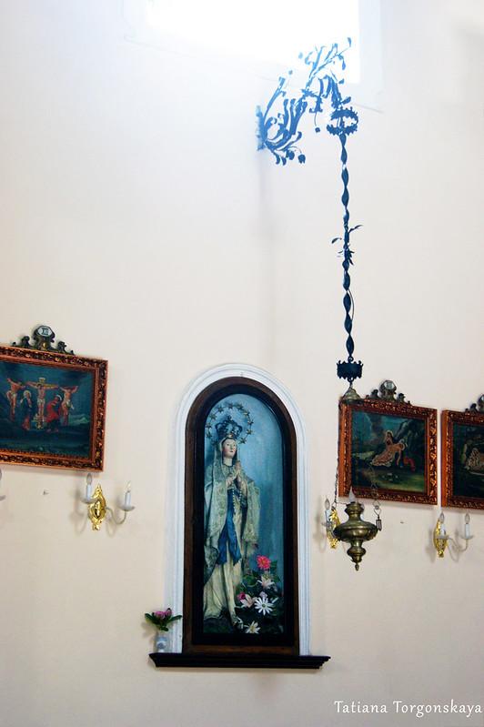 Фрагмент интерьера церкви Св. Клары