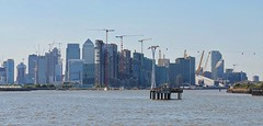 Docklands from the Thames