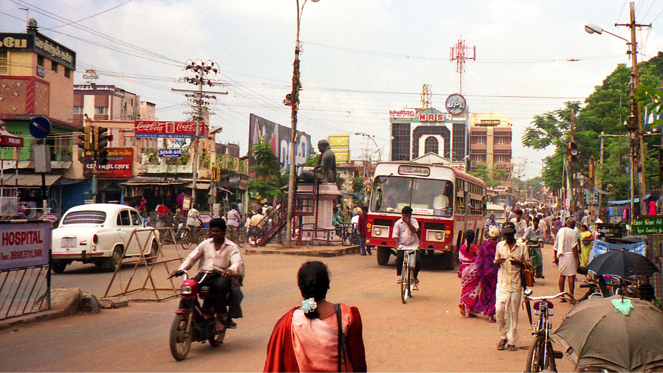 Street scene in southern india