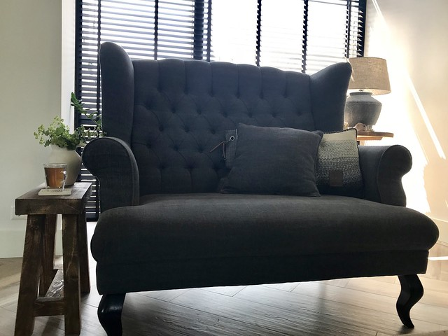Loveseat klassiek antraciet
