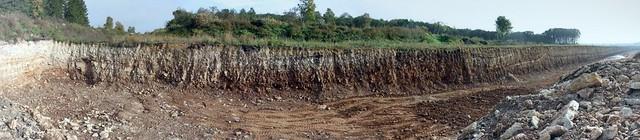 Põlevkivi avamusala / Oil shale outcrop, Estonia