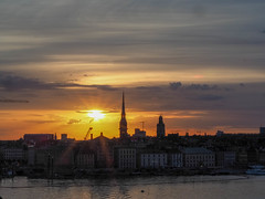 Sunset over Gamla Stan