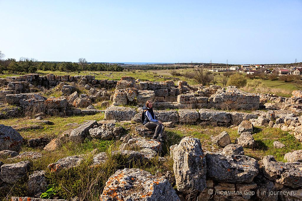 античная деревня недалеко от Херсонеса