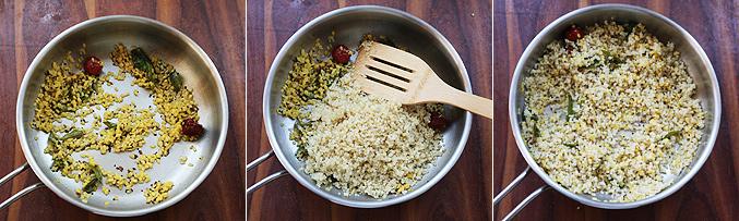How to make quinoa sundal recipe - Step3