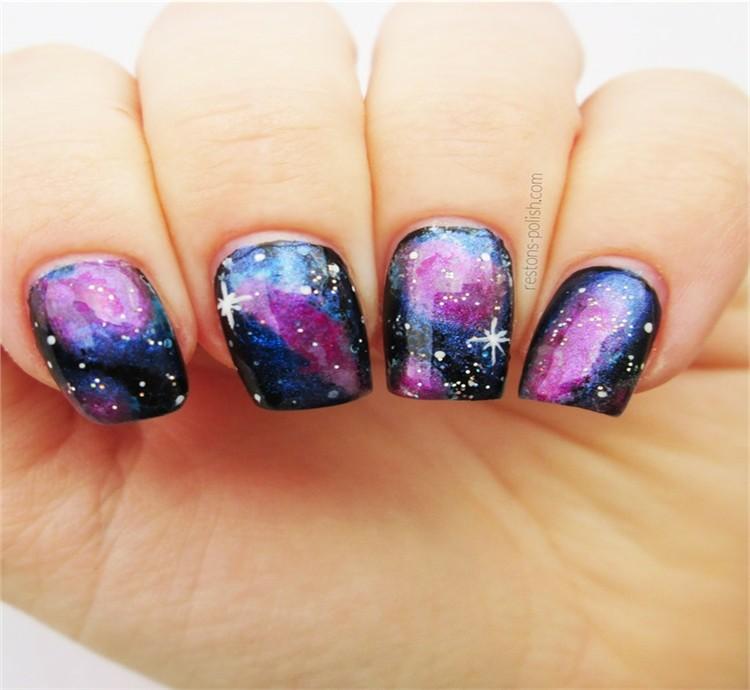 Top Amazing Galaxy Nail Art Designs Trends Ideas - Fashonails