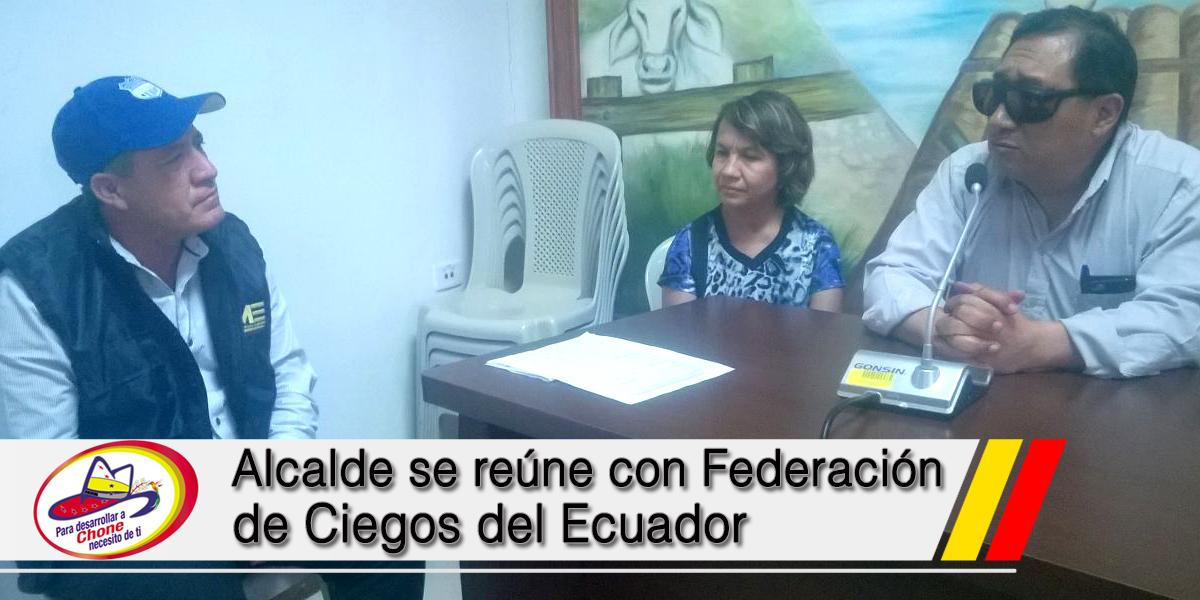 Alcalde se reúne con Federación de Ciegos del Ecuador