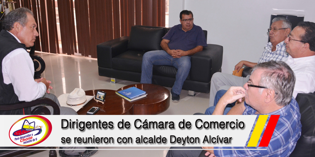 Dirigentes de Cámara de Comercio se reunieron con alcalde Deyton Alcívar