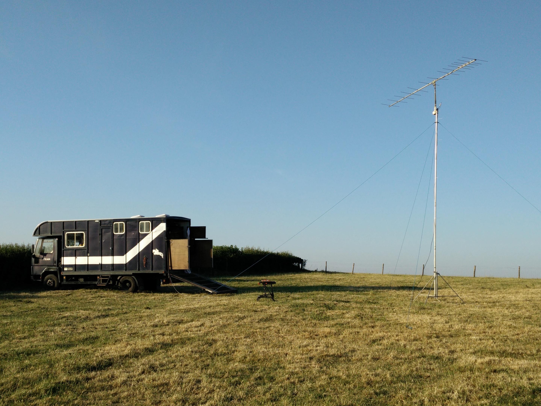 Horsebox and Antenna