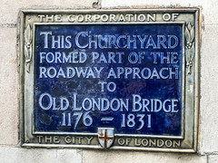 Photo of Old London Bridge blue plaque