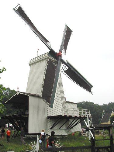 Paltrok mill Mijn Genoegen in the Netherlands Open Air Museum Photo taken on August 2, 2004.