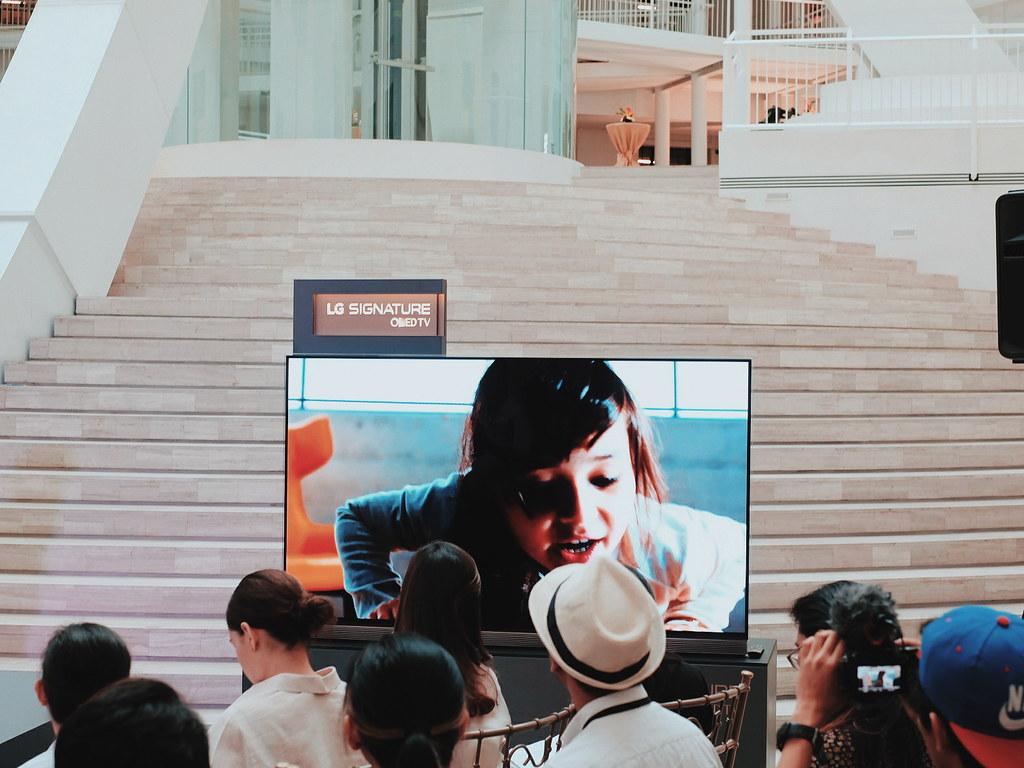 #LGOLEDWallpaperTV LG OLED Wallpaper TV Event National Museum