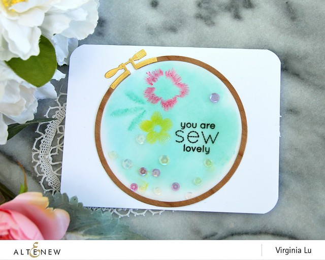 Altenew-CircleEmbroideryHoopDie-EmbroideredStamp-Virginia#3