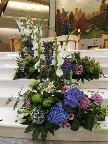 Floral display Knock Basilica