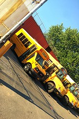 2007 IC CE300, and 2017 GMC Savana 3500 with a Starcraft Body. and Other various consolidated buses at the brooklyn yard.