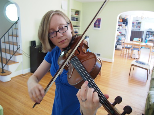 Playing my violin