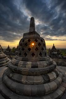 Borobudur Stupa Sunrise