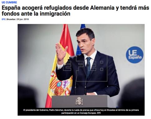 18f30 España recibirá inmigrantes no deseados en Alemania
