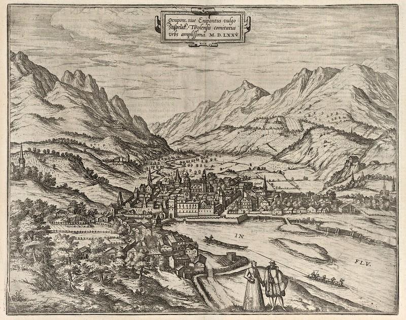 Georg Braun & Franz Hogenberg - Inspruck (Innsbruck) (1575)