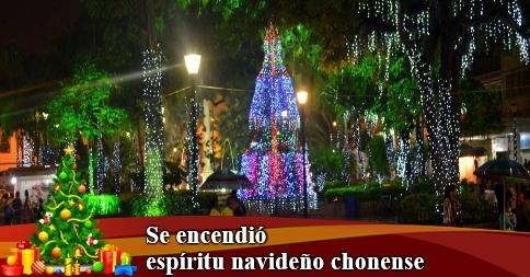 Se encendió espíritu navideño chonense