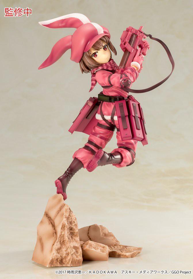 可愛的「粉紅惡魔」來襲!壽屋《刀劍神域外傳Gun Gale Online》蓮(レン)1/7比例模型 上色原型公開!