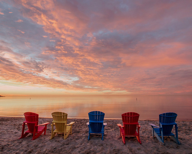 Colourful seats for a colourful dawn