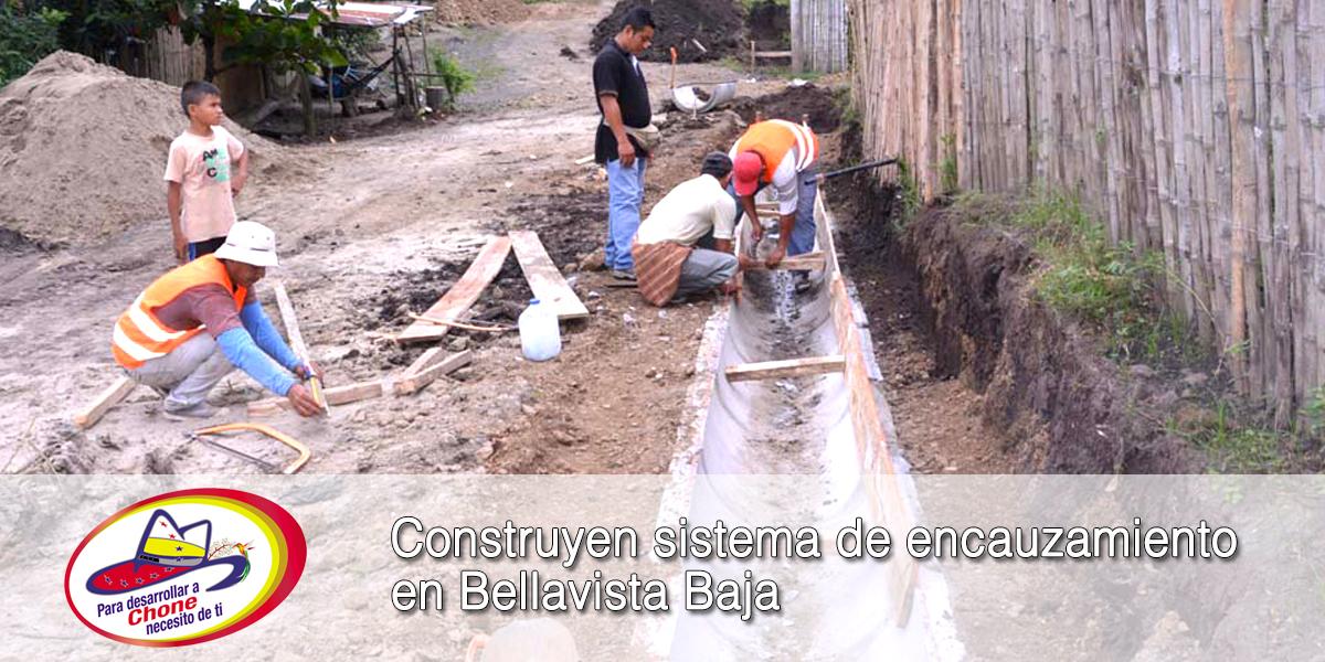 Construyen sistema de encauzamiento en Bellavista Baja