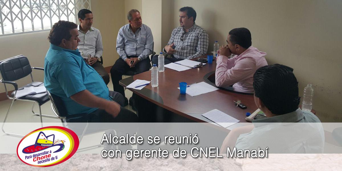 Alcalde se reunió con gerente de CNEL Manabí