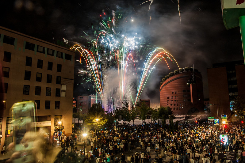 Evry Daily Photo - Feu Artifice Evry 2018 - Fete du 13 Juillet