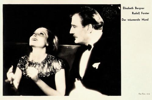 Elisabeth Bergner and Rudolph Forster in Der träumende Mund