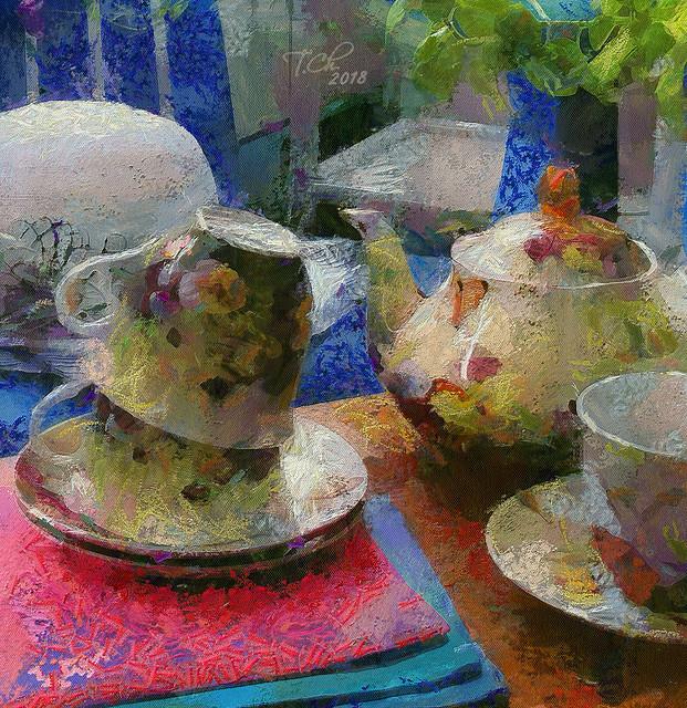 Чаепитие.деталь /  «Five o'clock Tea».detail