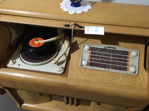 Mastertone Record Player Cabinet with Short Wave Radio