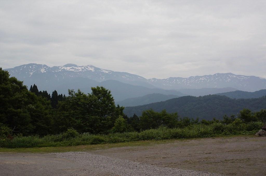 白峰西山駐車場からの白山連峰!