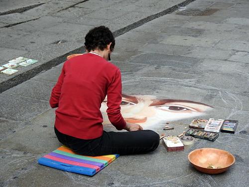 Bologna - artista di strada