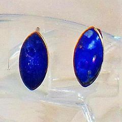 Vintage Earrings. Lapis Lazuli Earrings. Sterling Silver Earrings. Lapis Earrings. Blue Stone Earrings. Jewelry for Women. waalaa