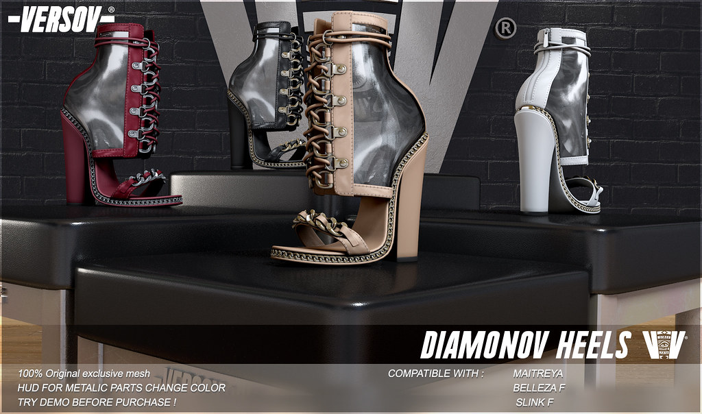 Diamonov heels are available in 6 colors - TeleportHub.com Live!