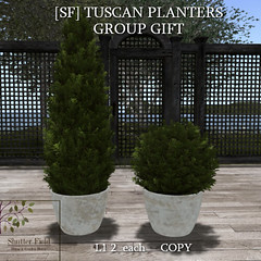 SF Tuscan Planters - group gift ad