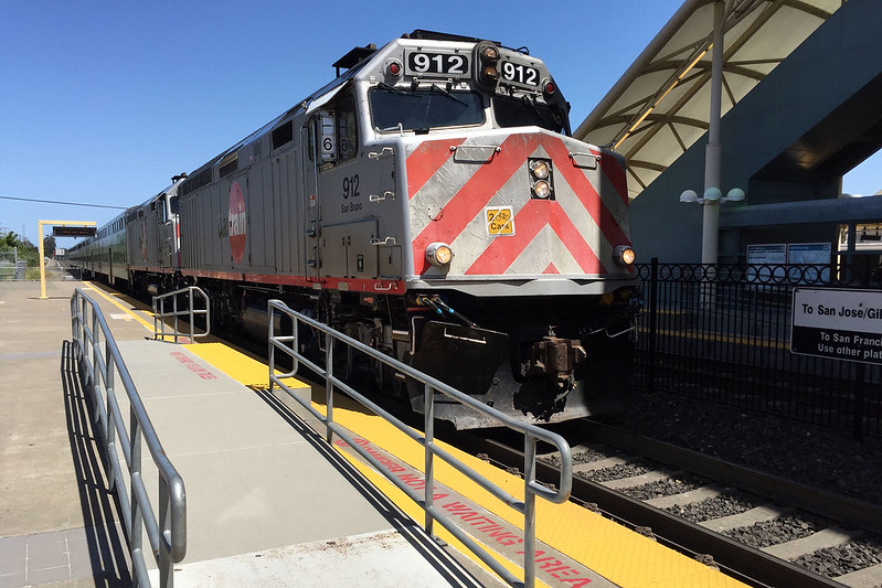 Caltrain southbound