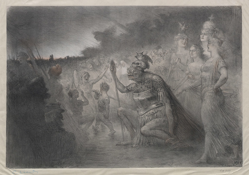 Charles Lucien Leandre - Monstrous Beasts and Beautiful Allies, 1915